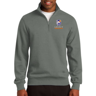 1/4 Zip Sweatshirt - Embroidered Logo Thumbnail