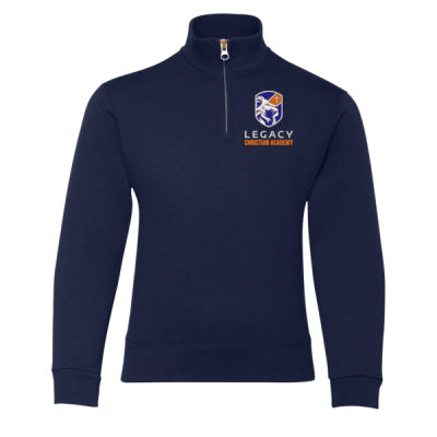 Youth Nublend Quarter-Zip Sweatshirt - Embroidered Logo Thumbnail