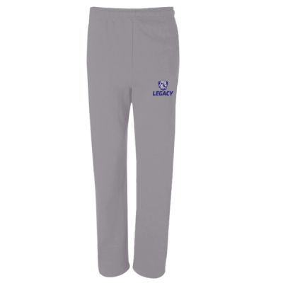 NuBlend Open Bottom Pocketed Sweatpants - Embroidered Logo Thumbnail