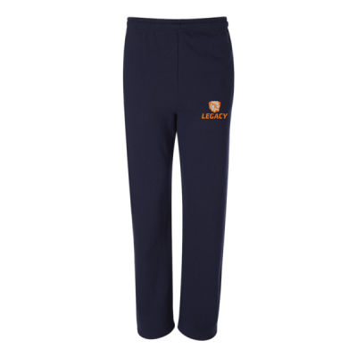 Youth NuBlend Open Bottom Pocketed Sweatpants - Embroidered Logo Thumbnail