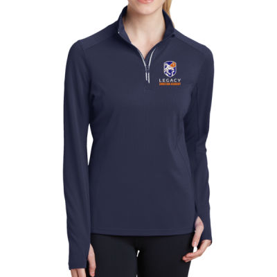Sport-Tek - Ladies Sport-Wick Textured 1/4-Zip Pullover - Embroidered Logo Thumbnail